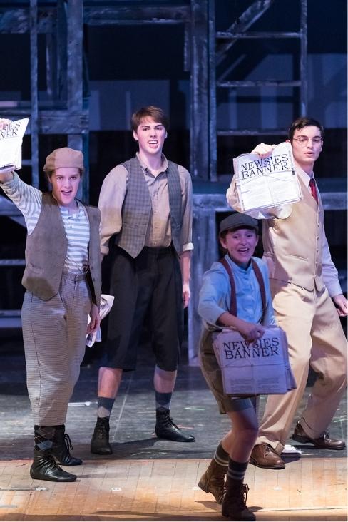 Paper boys in Newsies